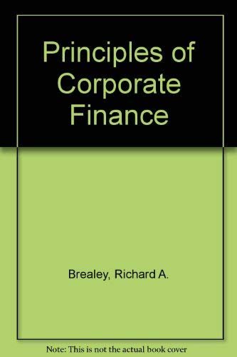 9780071001533: Principles of Corporate Finance 3rd Edition