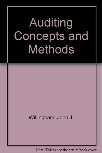 9780071001625: Auditing Concepts and Methods