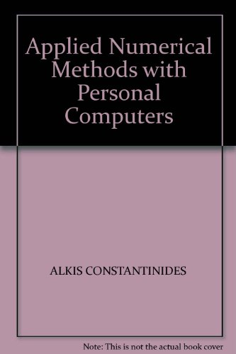 9780071001687: Applied Numerical Methods with Personal Computers