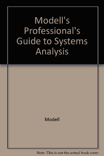 9780071002141: Modell's Professional's Guide to Systems Analysis