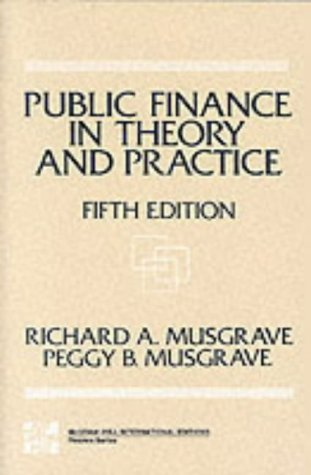 9780071002271: Public Finance in Theory and Practice