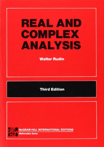 9780071002769: Real and complex analysis (McGraw-Hill International Editions: Mathematics Series)