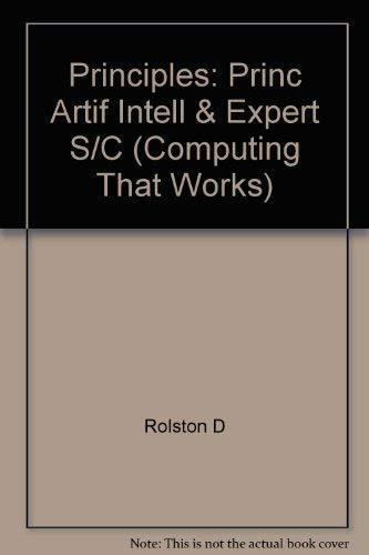 9780071002837: Principles: Princ Artif Intell & Expert S/C (Computing That Works)