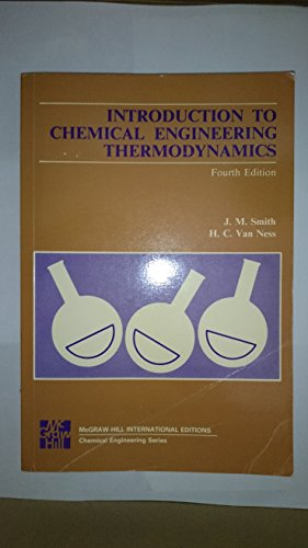 9780071003032: Introduction to Chemical Engineering Thermodynamics