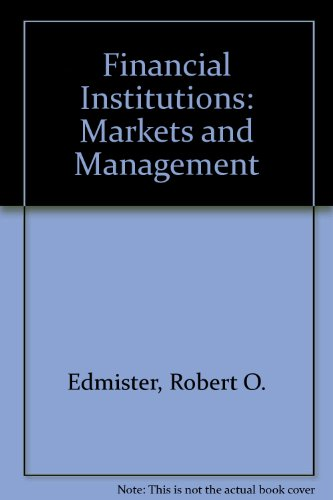 9780071003100: Financial Institutions: Markets and Management