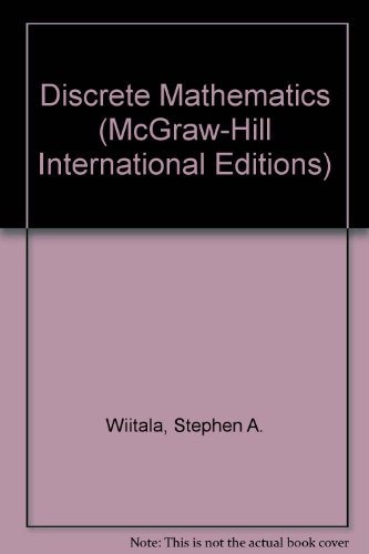 9780071003162: Discrete Mathematics: A Unified Approach (McGraw-Hill International Editions)