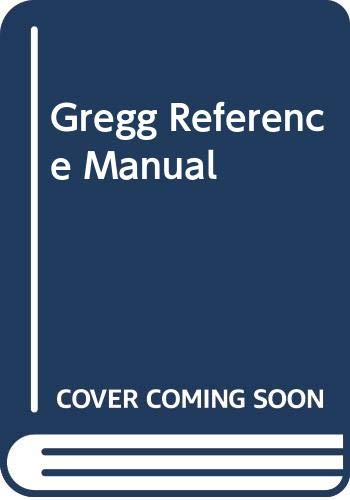 9780071003216: The Gregg Reference Manual