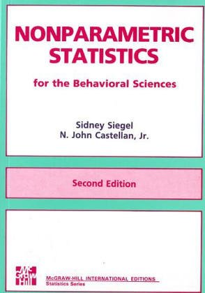 9780071003261: Nonparametric Statistics for Behavioural Science