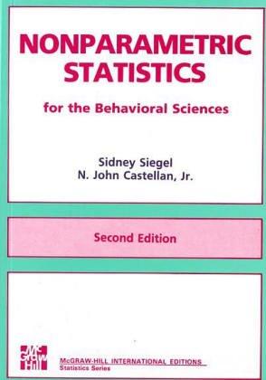 9780071003261: Nonparametric Statistics for the Behavioral Science