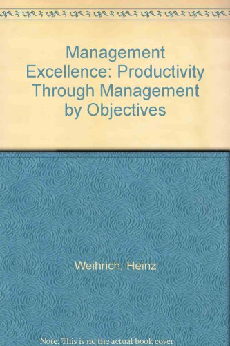 9780071003339: Management Excellence: Productivity Through MBO