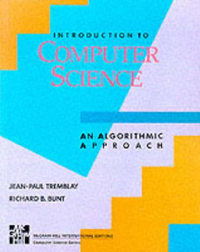 9780071003483: Introduction to Computer Science: An Algorithmic Approach