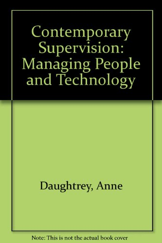 9780071003834: Contemporary Supervision: Managing People and Technology