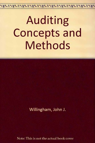9780071004077: Auditing Concepts and Methods