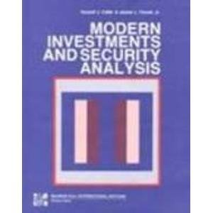 9780071004220: Modern Investments and Security Analysis