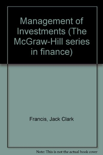 9780071004329: Management Of Investments,