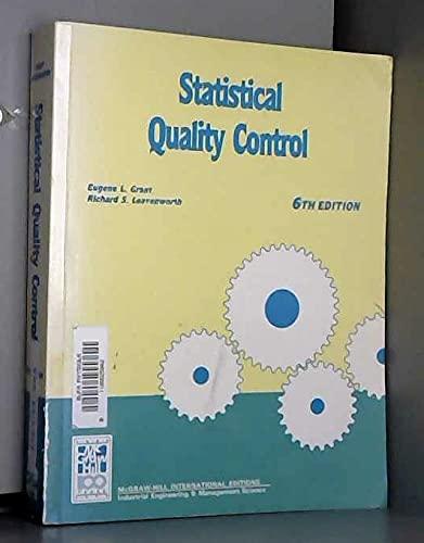 Statistical Quality Control: Grant, Eugene L.