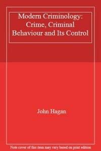 9780071004688: Modern Criminology: Crime, Criminal Behaviour and Its Control