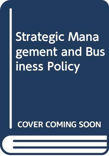 9780071005111: Strategic Management and Business Policy