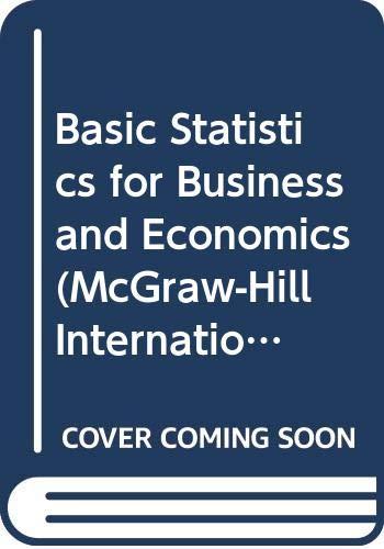 9780071005371: Basic Statistics for Business and Economics (McGraw-Hill International Editions: Business Statistics Series)