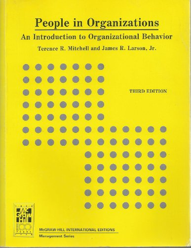9780071005852: People in Organizations: Introduction to Organizational Behaviour