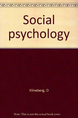 9780071005920: Social Psychology