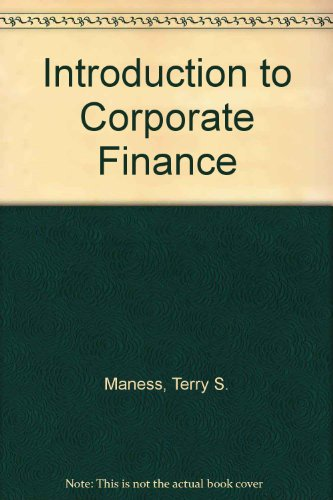 9780071005944: Introduction to Corporate Finance