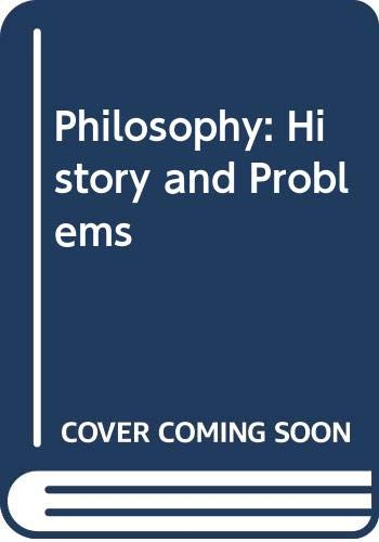 9780071006118: Philosophy: History and Problems