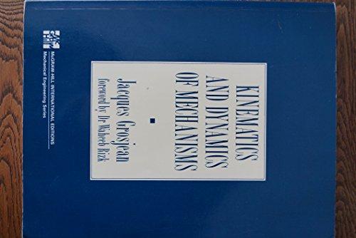 9780071006330: Kinematics and dynamics of mechanisms