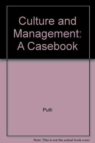 9780071006415: Culture and Management: A Casebook