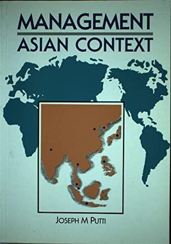 Management: Asian Context: Joseph M. Putti