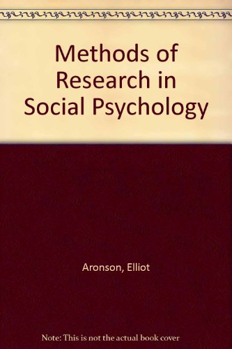 9780071006644: Methods of Research in Social Psychology