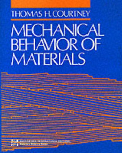 9780071006804: Mechanical Behaviour of Materials