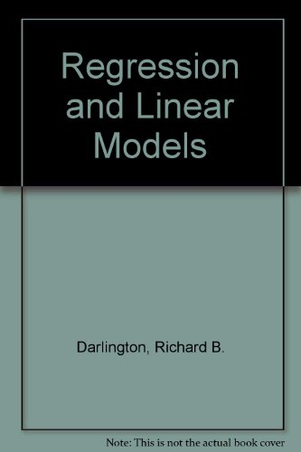 9780071006996: Regression and Linear Models