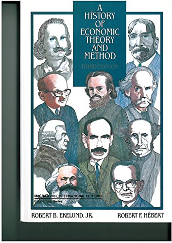 9780071007085: A History of Economic Theory and Method