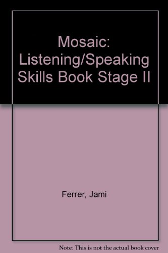 9780071007207: Mosaic: Listening/Speaking Skills Book Stage II