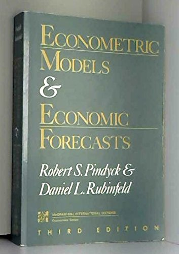 9780071008662: Econometric Models and Economic Forecasts