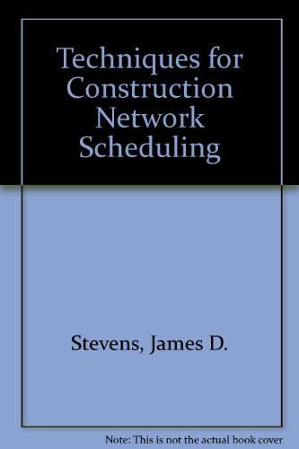 9780071009195: Techniques for Construction Network Scheduling