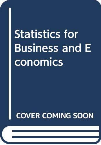 9780071009225: Statistics for Business and Economics