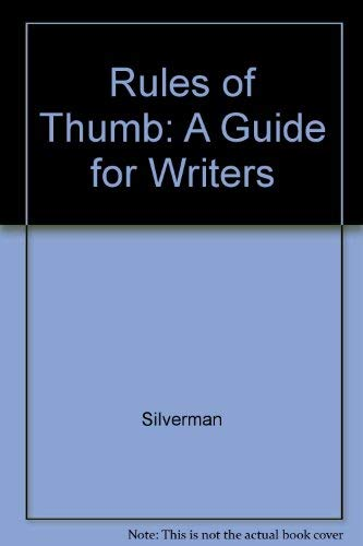 9780071009386: Rules of Thumb: A Guide for Writers