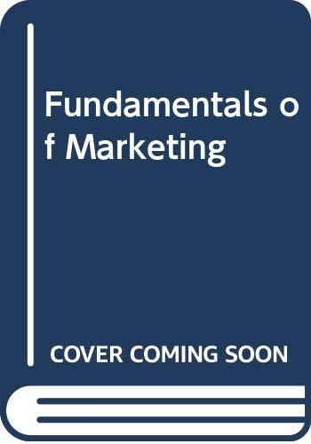 9780071009416: Fundamentals of Marketing