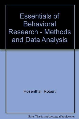9780071009461: Essentials of Behavioral Research: Methods and Data Analysis