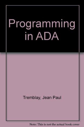 9780071009577: Programming in ADA