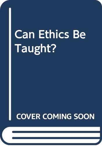 9780071034173: Can Ethics Be Taught?
