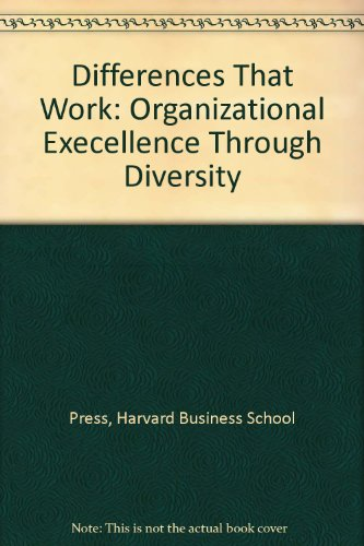 9780071035811: Differences That Work: Organizational Execellence Through Diversity