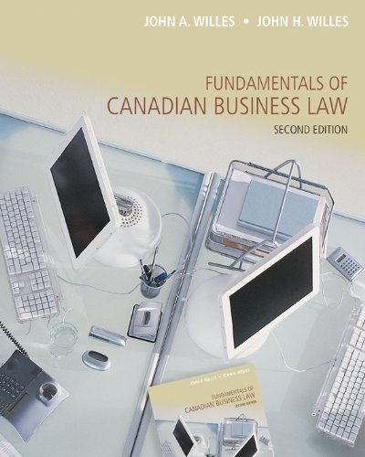 9780071050401: Fundamentals of Canadian Business Law, 2nd Ed. with iStudy Access Card