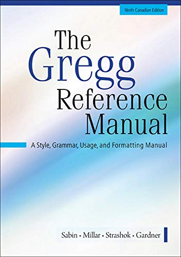 9780071051156: The Greg Reference Manual - Ninth Candadian Edition