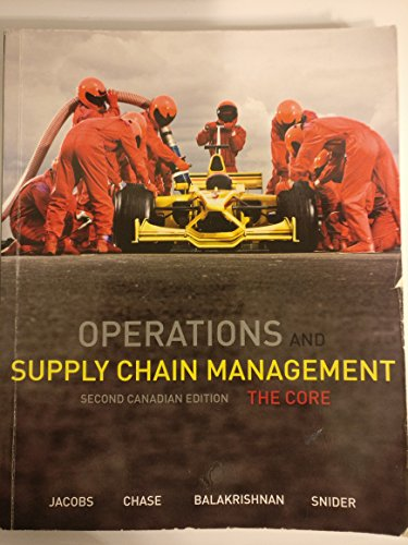 9780071051484: Operations and Supply Chain Management, Second Canadian Edition, the Core