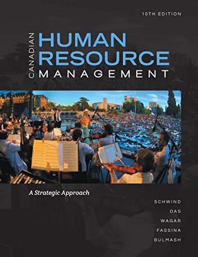 9780071051552: Canadian Human Resources Management 10th Edition