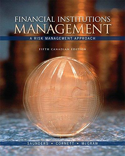 Financial Institutions Management: A Risk Management Approach: Marcia Cornett (Author),
