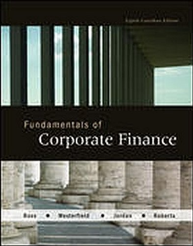 Fundamentals of Corporate Finance, 8th Canadian Edition: Ross Westerfield, Jordan